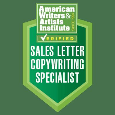 AWAI Sales Letter Badge